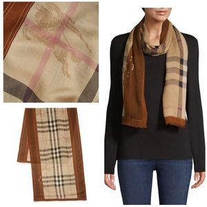 NWT Authentic Burberry Vintage Check Scarf